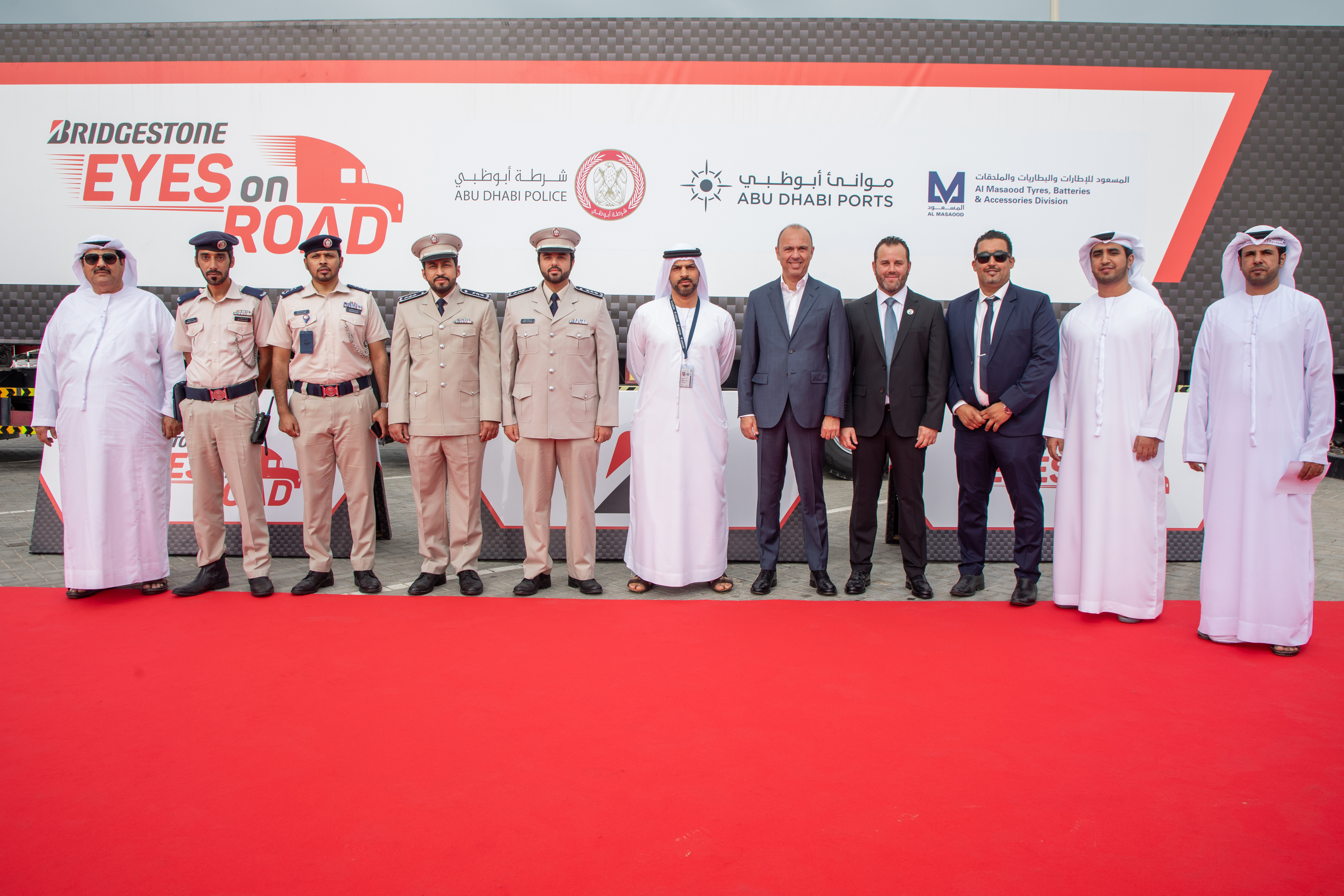 Al Masaood Collaborates with Bridgestone to promote health & safety for UAE truck drivers in partnership with several government entities