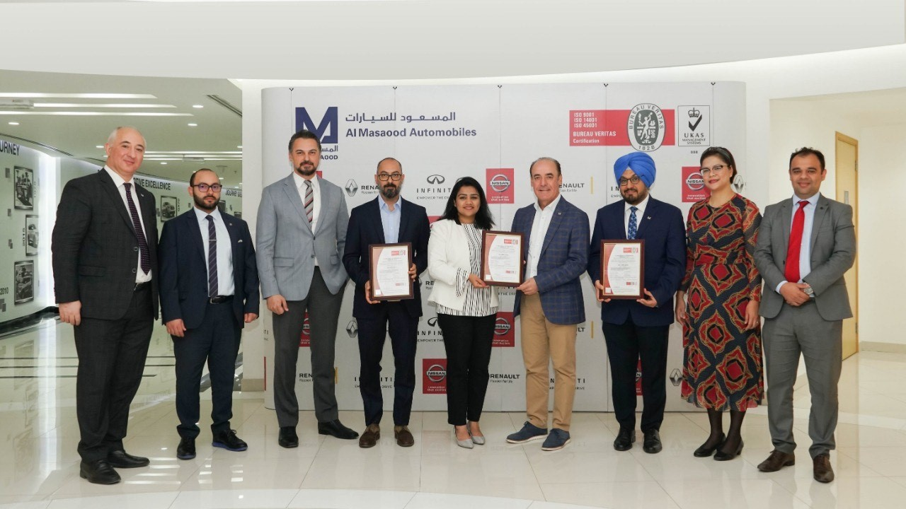 Al Masaood Automobiles Becomes First Automotive Company to Attain ISO 45001:2018 Certification in Abu Dhabi