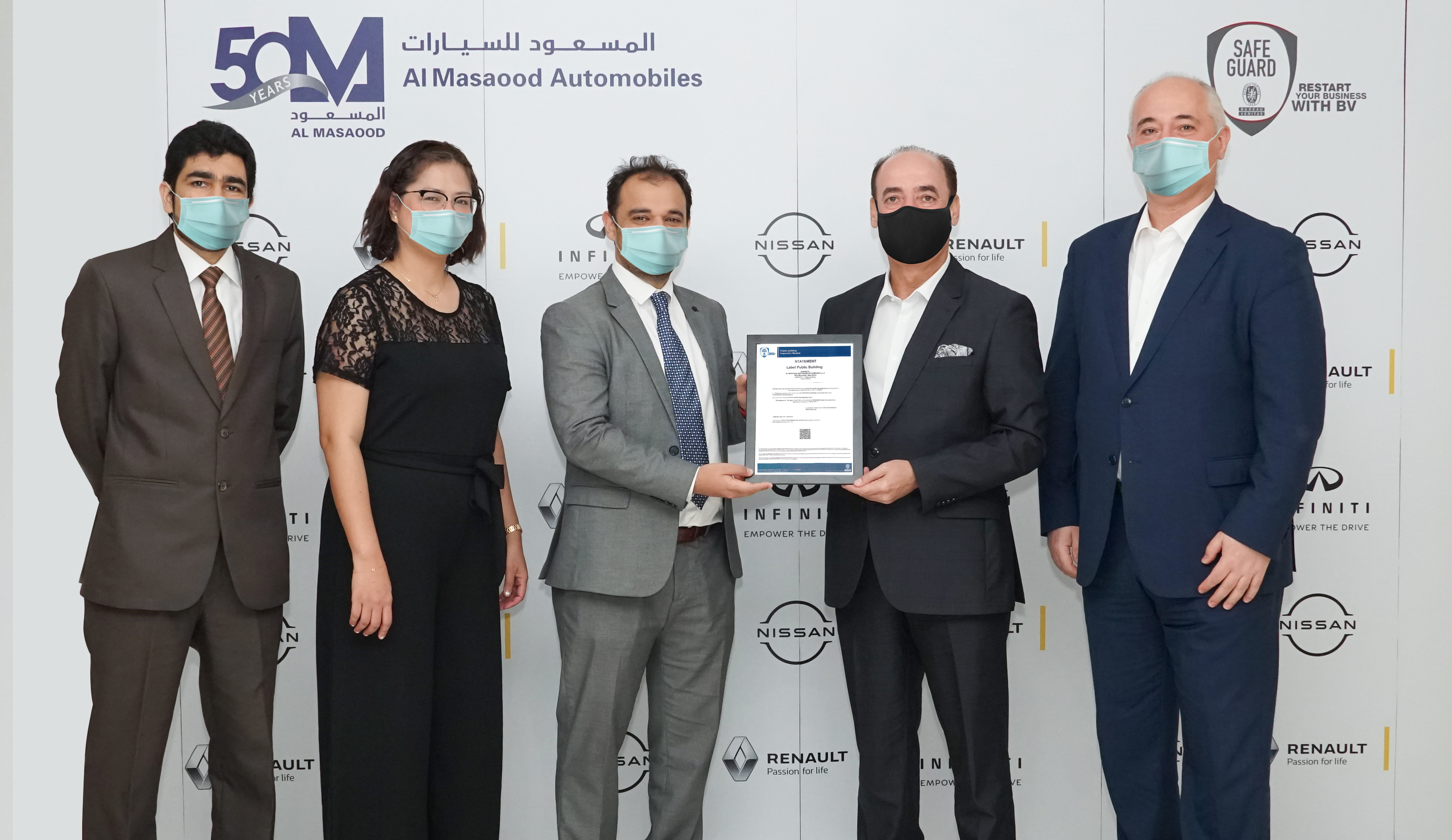 Al Masaood Automobiles Becomes First Automotive Company to Receive Bureau Veritas' 'Safeguard' Label in GCC